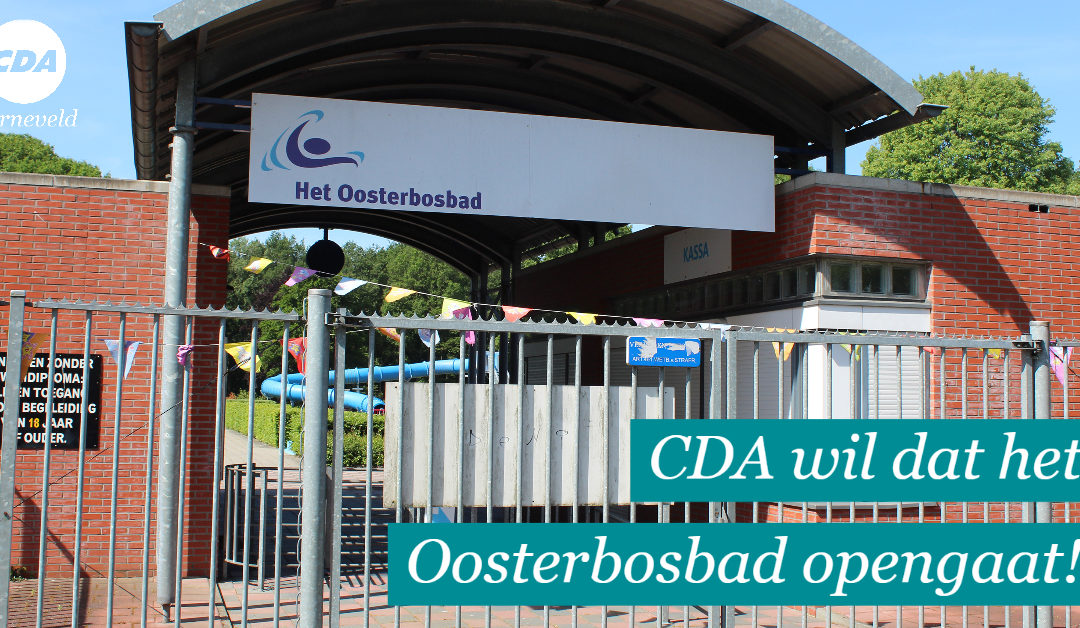 CDA wil dat het Oosterbosbad opengaat