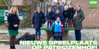 Nieuwe speelplaats op Patrijzenhof dankzij CDA-initiatief